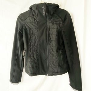 BENCH insulated black zip-up jacket